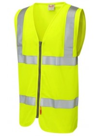 Flame Retardant Hi Vis vest with Zip leo w23