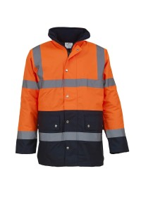 Orange and Blue Hi Vis coat