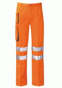 Hi Vis Orange Rail Combat Trousers