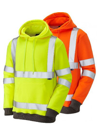 Hi Vis Hooded Sweatshirt LEO SS04 Goodleigh