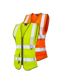 Ladies Hi Vis Vest With Pockets Leo WL11