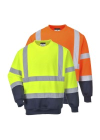 Personalised Two Tone Hi Vis Sweatshirt