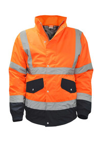 Orange and Blue Hi Vis Bomber Jacket