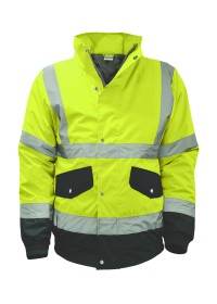 Yellow and Blue Hi Vis Bomber Jacket