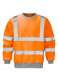 Hi Vis Orange Railway Sweatshirt