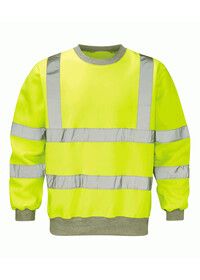Hi Vis Yellow Sweatshirt Class 3