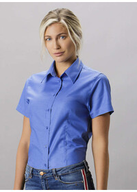 Kustom Kit Workplace Oxford Blouse Short Sleeve KK360