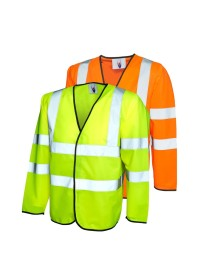 UC802 Uneek Long Sleeve Hi Vis Vest