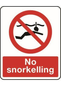 No snorkelling sign