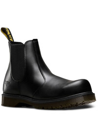 Icon Black Leather Dealer Safety Boot Dr Martens SB SRA