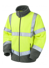 Yellow Hi Vis Fleece Jacket Leo F01