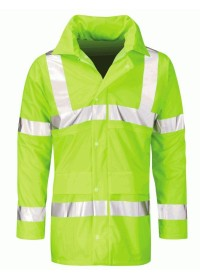 Hi Vis Unpadded 100% Waterproof Coat