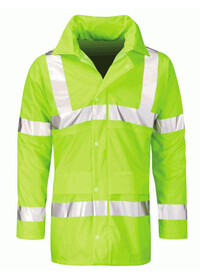 Orbit Rapier Mens Work Jacket Waterproof Breathable HiVis Yellow Rain Workwear