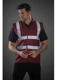 Maroon Hi Visibility safety vest