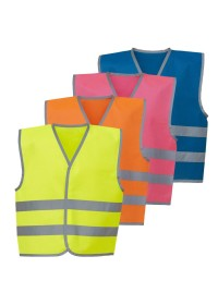 100 Kids Printed Hi Vis vests