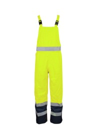 Yellow And Blue Hi Vis Flame Retardant Anti Static Salopettes FRMSAL Mantle