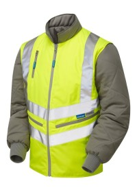 Hi Vis Bodywarmer with Zip Off Sleeves Pulsar P422