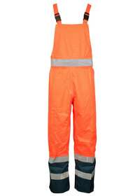 Orange And Blue Hi Vis Flame Retardant Anti Static Salopettes FRMSALR Plume