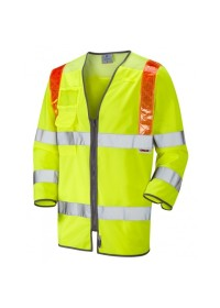 Traffic Management 3/4 Sleeve Hi Vis Vest With Orange Braces