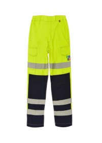 Flame Retardant ARC Yellow And Blue Hi Vis Combat Trousers