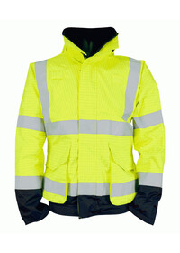 Yellow & Blue Flame Retardant Anti Static Hi Vis Bomber jacket