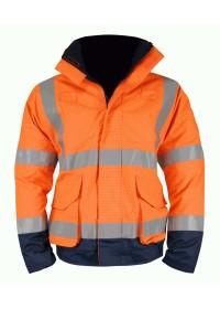 Orange & Blue Flame Retardant Anti Static Hi Vis Bomber jacket
