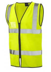 Zip Up Hi Vis Vest with ID pocket