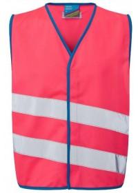 Pink Kids Hi Vis vest Neon Stars CW01