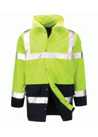 Yellow and Blue Hi Vis Jacket