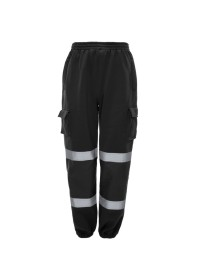 Black Hi Vis Jogging Bottoms J8041