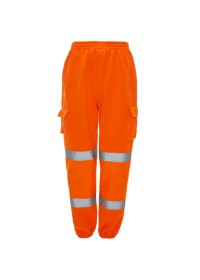 Orange HI Vis Jogging Bottoms J8041