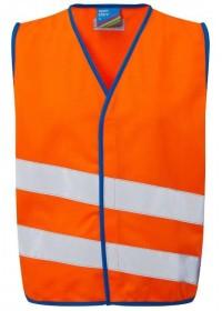 Orange Kids Hi Vis vest Neon Stars CW01