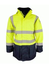 Yellow & Blue Flame retardant & Anti Static Hi Vis coat