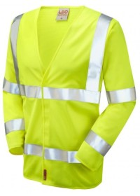 Yellow Orange Hi Vis Flame retardant Long Sleeve Vest