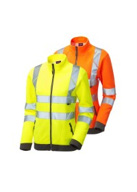 Ladies Zipped Hi Vis Sweatshirt Leo SSL03
