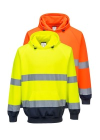 Personalised Two Colour Pull Over Hivis Hoodie B316