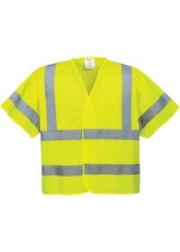 Personalised Portwest C471 Hi Vis Short Sleeved Vest
