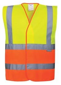 2 Colour Personalised  Hi Vis Vest  C481