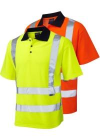 Personalised Hi Vis Comfort Polo Shirt Leo P01