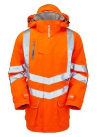 Personalised Orange Hi Vis Storm Coat PR502
