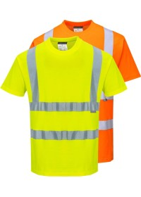 Personalised Hi Vis Comfort Short Sleeve T-Shirt