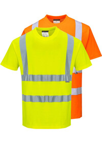 Personalised Hi Vis Comfort Short Sleeve T-Shirt
