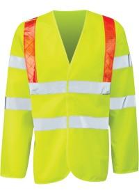 Personalised Long Sleeve Hi Vis Polo Shirt Pulsar P458