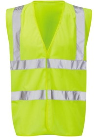 Yellow Hi Vis Vest With Yellow Piping Orbit