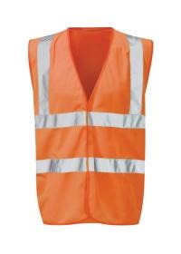 Orange Hi Vis Vest With Orange Piping Orbit