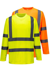 Personalised Hi Vis Long Sleeved T-Shirt S178