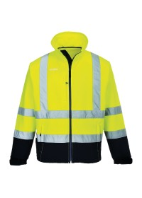 Hi Vis Classic Two Tone Softshell Jacket S425 Portwest