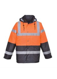 Custom Printed 2 Colour Hi Vis Coat Portwest S467