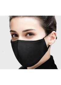 Black Face Mask single layer