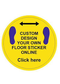 Custom Printed Social Distancing Floor sticker